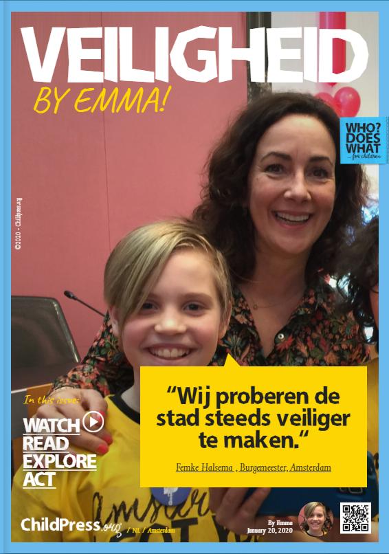 Veiligheid: Emma spreekt met Femke Halsema
