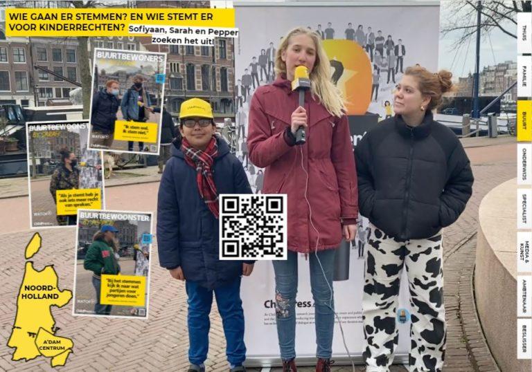 Vraag het de buurt: Sofiyaan, Sarah en Pepper gaan op onderzoek uit rondom de verkiezingen