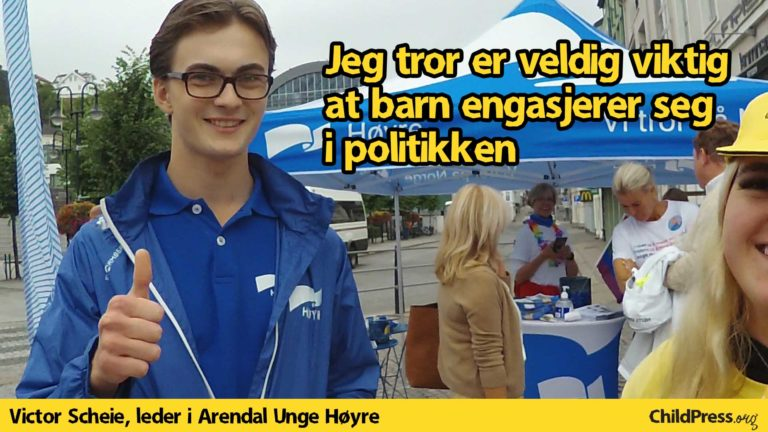 Victor Scheie, leder i Arendal Unge Høyre